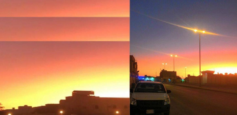شروق الشمس قبل موعدها والشفق الأحمر