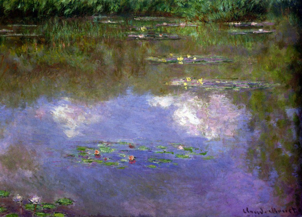 لوحة زنابق مائية