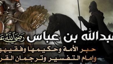 صورة عبد الله بن عباس حبر الأمة وحكيمها وفقيهها