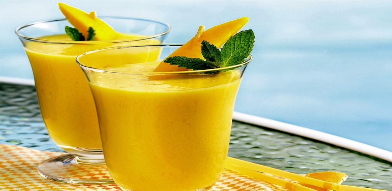 عصير المانجو بالآيس كريم