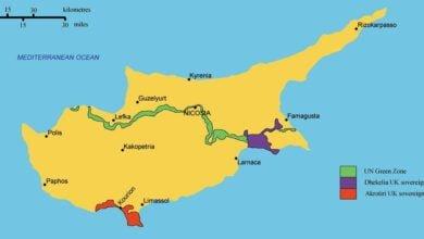 صورة أين تقع جزيرة قبرص