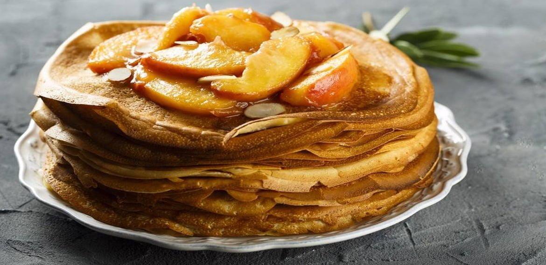 بان كيك بالتفاح والقرفة pan cake