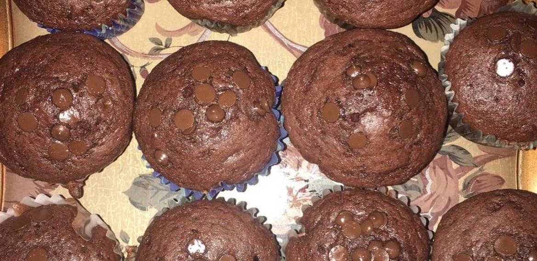 Chocolate muffin مافن برقائق الشوكولاتة والجوز