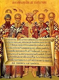 قسطنطين الذي كان وثنياً وهو يحرق كتب أريوس
