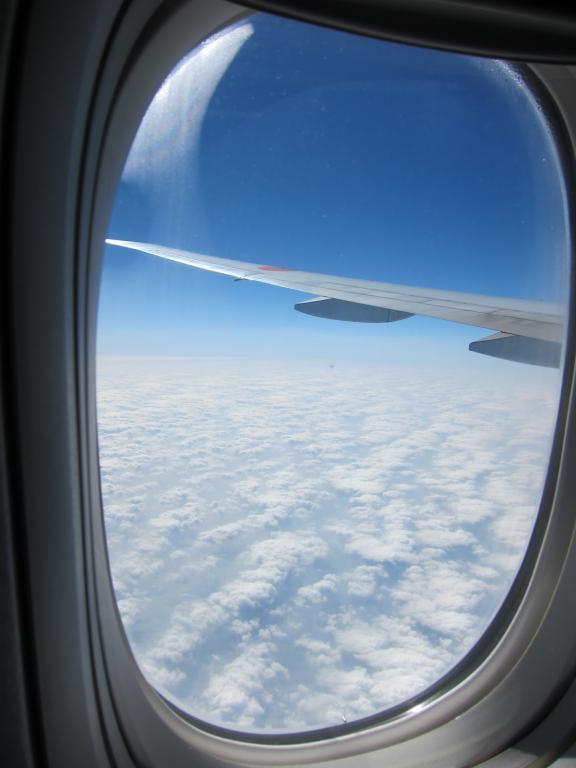 نوافذ الطائرة مستديرة