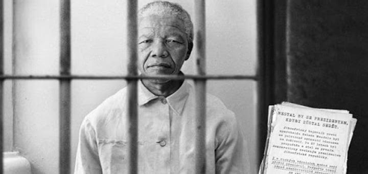 نيلسون مانديلا في السجن