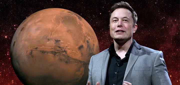 صورة شركة سبيس إكس والعيش على المريخ