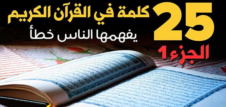 صورة معاني بعض كلمات القرآن الكريم