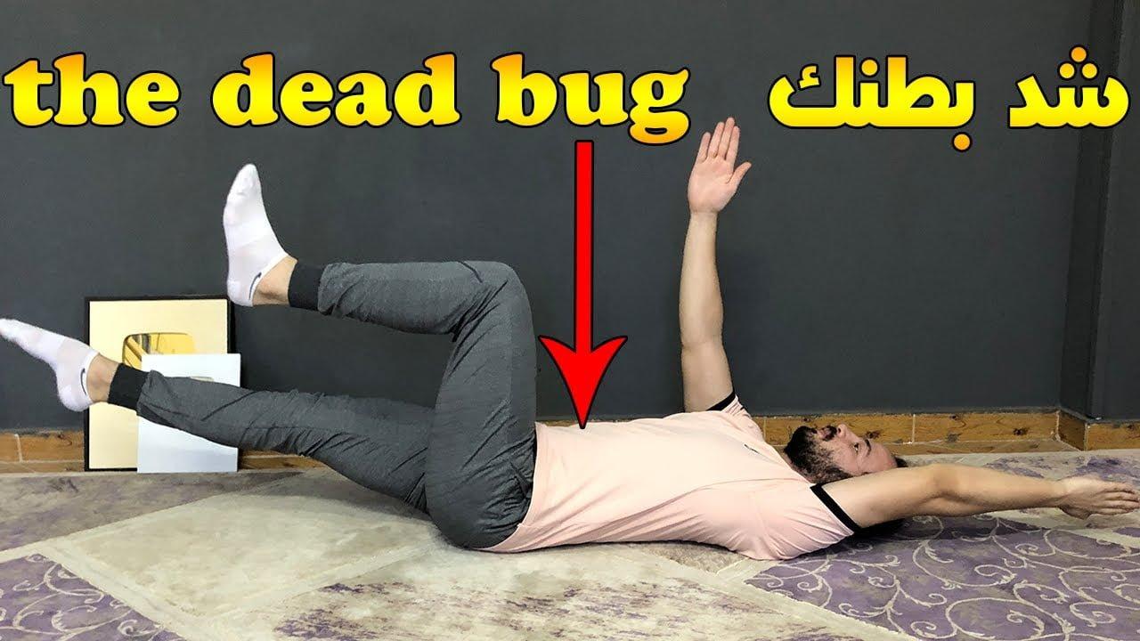 صورة تمرين شد البطن The dead bug