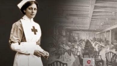 صورة المرأة التي نجت من حوادث تايتانيك، بريتانيك، وأوليمبك